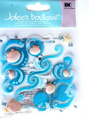 JOLEE'S BOUTIQUE STICKERS - SEA FLOURISHES waves and shells