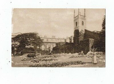 Post Card Printed Of Badminton House And Church