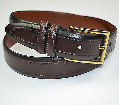 Club Room MEN'S Belt, Stitched Dress Belt BROWN LEATHER SIZE 32 NWT
