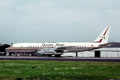 Canadian Pacific Douglas DC-8 CF-CPH at Prestwick (1964) Photo