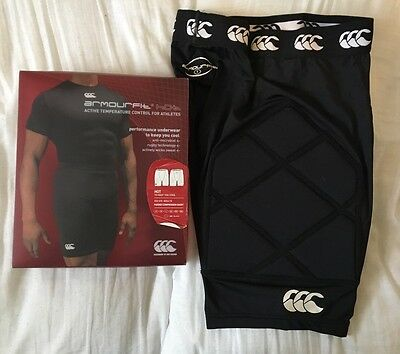 CCC Canterbury New Zealand Armourfit Hot Padded Compression Shorts Rugby Small