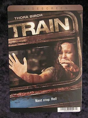 Train movie backer card - Thora Birch (this is not a movie)