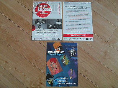 THE BRECON JAZZ FESTIVAL - 2 different lovely tour flyers (Mint) GREGORY PORTER