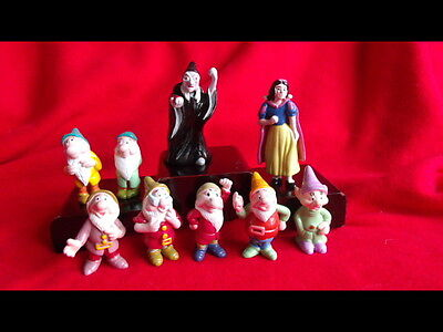 Snow  White And The Seven 7 Dwarfs Wicked Witch Disney Cake Toppers
