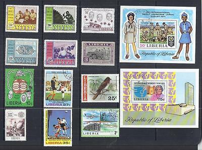 y305 Liberia  / A Small Collection Early & Modern  Used