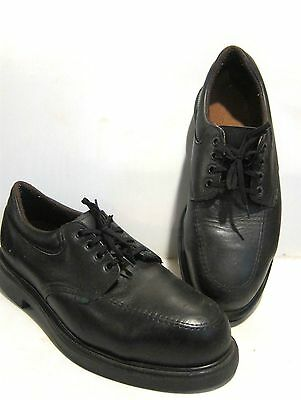 Red Wing Men's Black Leather Steel Toe Work Safety Oxford Shoes Sz 10 SR/USA