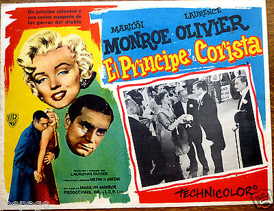 PRINCE & THE SHOWGIRL Orig Mexican Lobby Card MARILYN MONROE LAURENCE OLIVIER