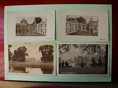 NORTHAMPTONSHIRE - Stately Homes - 4 old postcards