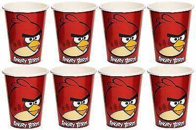 16 Amscan Fun Filled Angry Birds Birthday Party Paper Cups 2 Pack Of 8 Red 9 oz