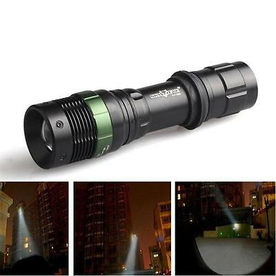 3500 Lumens 3 Modes CREE XM-L T6 LED Zoomable 18650 Flashlight Light Waterproof