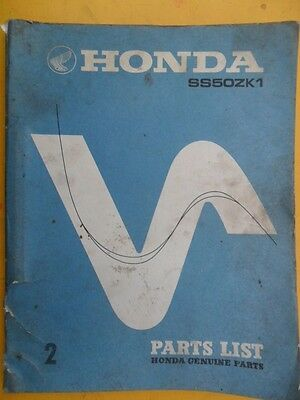Honda Ss50Z K1 Illustrated Spare Parts List 1973 *scarce*