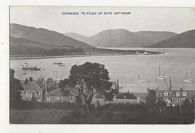 Entrance To Kyles Of Bute Rothesay Vintage Postcard 0922