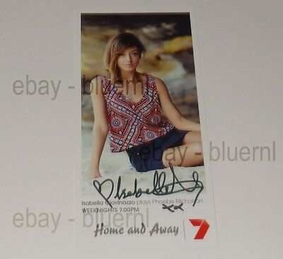 Home And Away Fan Card Pheobe Nicholson - Hand Signed - Isabella Giovinazzo