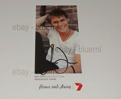 Home And Away Fan Card Matt Page - Hand Signed - Alec Snow