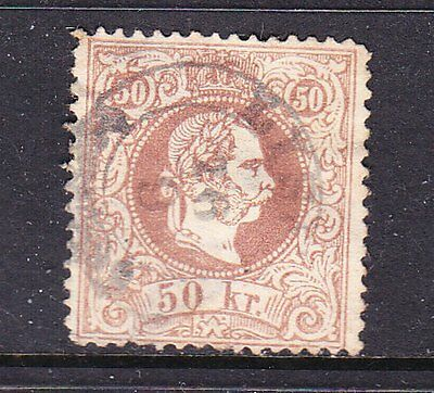 Austria postage stamps - 1867 50kr  Used - Cat £75.00 -  collection odd