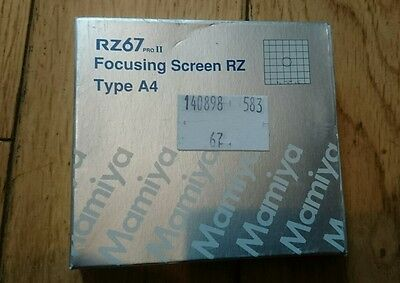 Mamiya RZ67 Pro Focus Screen type A4, boxed, mint condition