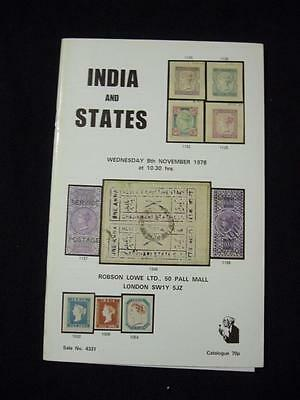 Robson Lowe Auction Catalogue 1978 India