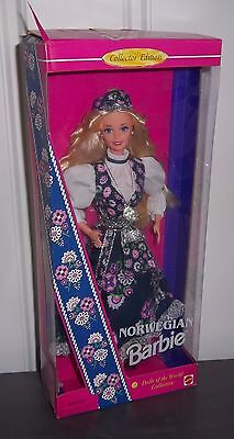 BARBIE ~ Dolls of the World Collector Edition ~ 1995 ~ Norway NORWEGIAN DOLL