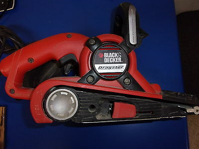 Black and Decker Corded Dragster Belt Sander with dust catcher used