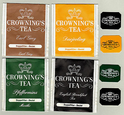 Rare! Crowning's Swiss Tea Bag Envelopes For Collection 302