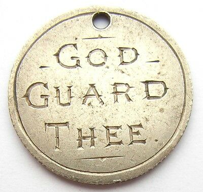 First World War Charm George V Sixpence GOD GUARD THEE