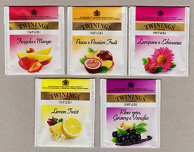 Twinings Italy Tea Bag Envelopes Tags Collection 487