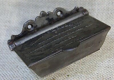 Match Safe Striker box SELF CLOSING cast iron vintage 1864 Civil War era old
