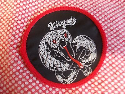 GENUINE , WHITESNAKE , VINTAGE  CLOTH SEW ON PATCH - 1970s EARLY 80s
