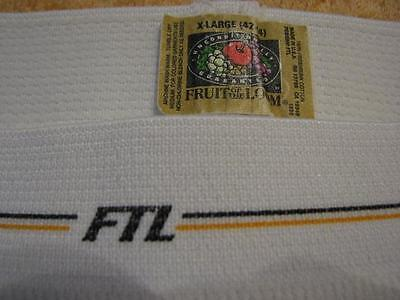 Vintage underwear Fruit of the Loom wide ribbed brief Made in USA rare band