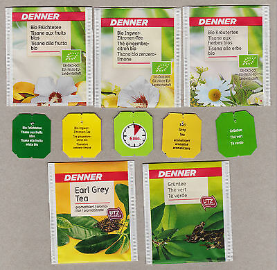 Denner Swiss Teabag Envelopes And Tags Collection 491