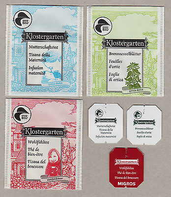 KLOSTERGARTEN SWISS TEABAG ENVELOPES AND LABELS COLLECTION 358b
