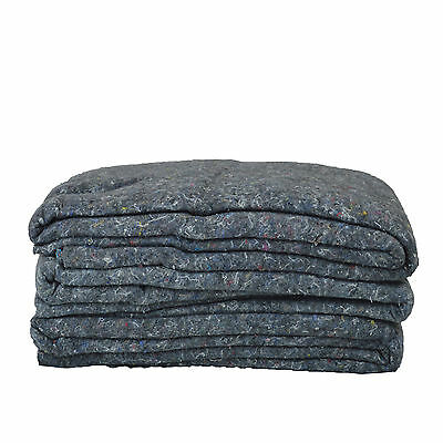"""6 Textile Moving Blankets 54x72"""" Excellent Professional Quality Pads"""