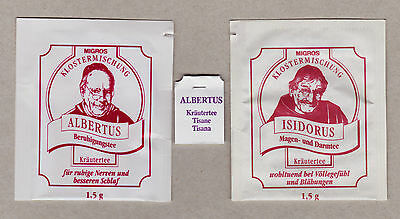 Migros Swiss Old Teabag Envelopes For Collection 496