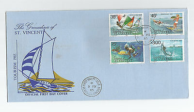 Grenadines of St. Vincent 1985 Tourism / Watersports FDC, SG386-9
