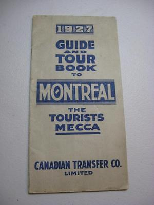 Montreal map 1923 Guide book with map etc
