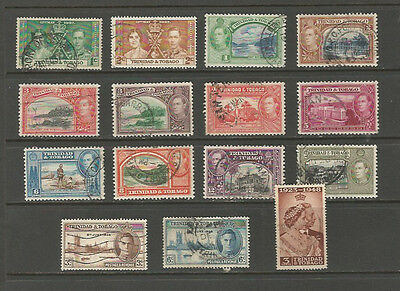 Trinidad & Tobago George VI selection, used.