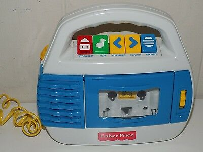 Fisher Price Kid Tough Tape Recorder Player Microphone Works 73801