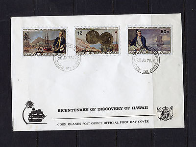 Cook Islands 1978 Bicentenary of the Discovery of Hawaii FDC, SG584-6