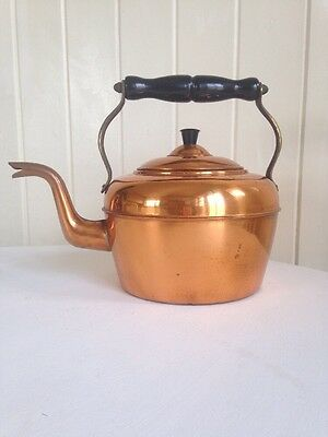 Vintage Retro Copper Kettle Made In England.