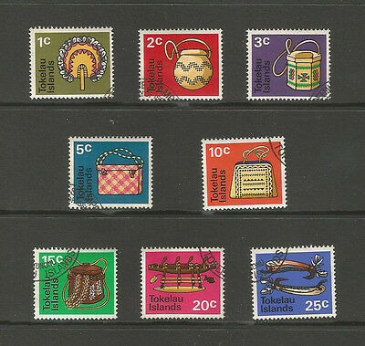 Tokelau 1971 Handicrafts, used set.  SG25-32