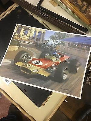 LOTUS Michael Turner COLOUR PRINT