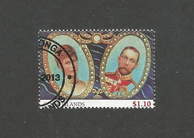 Cook Islands 2013 Queen Elizabeth 50th Anniv Coronation $1.10, used