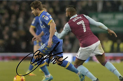 New, Gaetano Berardi, Leeds United 6X4 Hand Signed Photo 2016/17