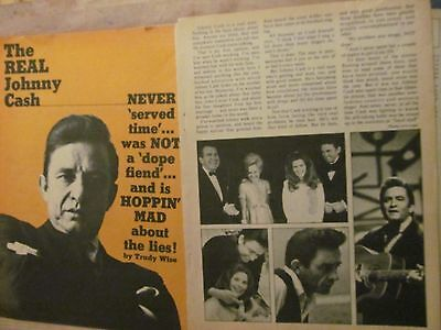Johnny Cash, Five Page Vintage Clipping