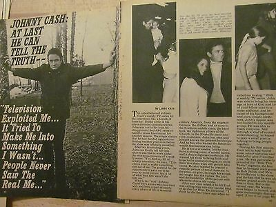 Johnny Cash, Four Page Vintage Clipping