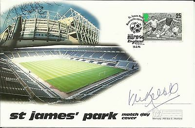 EURO 96 Mercury FDC (St James' Park), ORIGINALLY SIGNED by VIC KEEBLE!