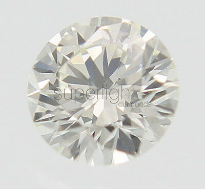 0.21 Carat I Color VVS2 Round Brilliant Enhanced Natural Loose Diamond 3.77mm