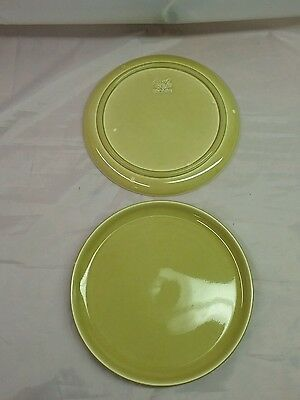 Russel Wright American Modern CHARTREUSE Dinner Plate  Steubenville Vintage
