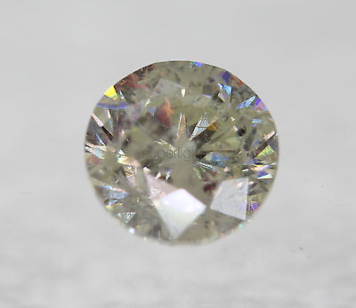 Certified 1.31 Carat I SI3 Round Brilliant Enhanced Natural Diamond 6.64mm