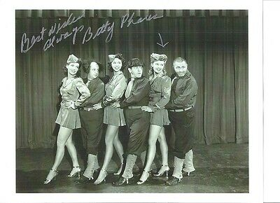 Betty Phares 3 Stooges Nita Bieber & Sylvia Lewis 1958 Autograph 8X10's 3 For 1